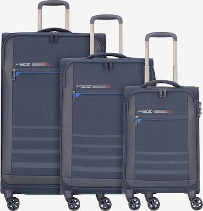 March15 Trading Kofferset in blau / rot / weiß, Produktansicht