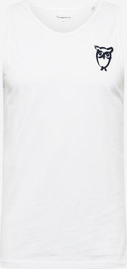 KnowledgeCotton Apparel Shirt 'ALDER' in schwarz / weiß, Produktansicht