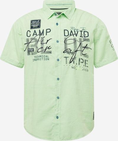 CAMP DAVID Chemise en marine / kiwi, Vue avec produit
