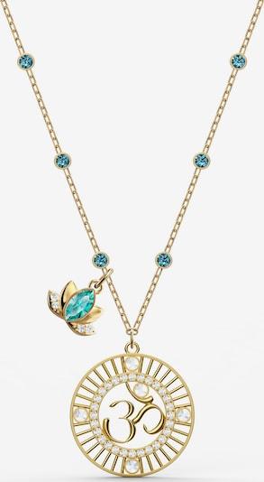 Lanțuri 'SWA SYMBOL:PENDANT LOTUS OM LMUL/GOS' Swarovski pe albastru închis / auriu, Vizualizare produs