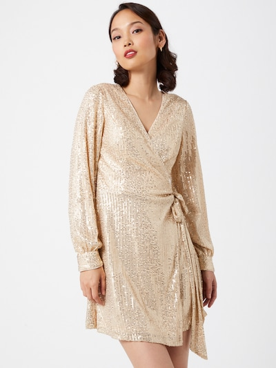 Chi Chi London Kleid 'Dayna' in gold, Modelansicht