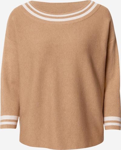 COMMA Pullover in camel / weiß, Produktansicht