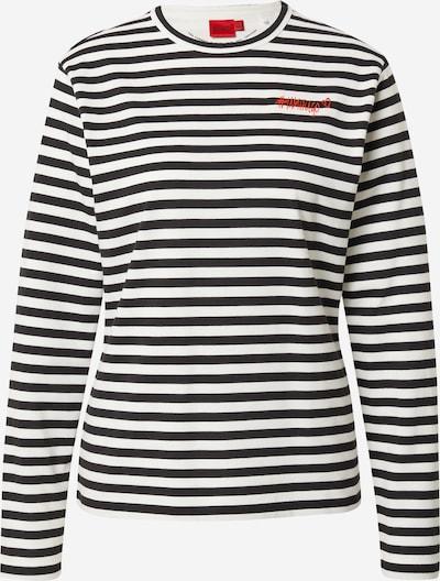 HUGO Shirt 'Darcons' in schwarz / naturweiß, Produktansicht