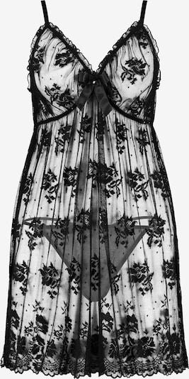 Ulla Popken Negligé + String in schwarz, Produktansicht