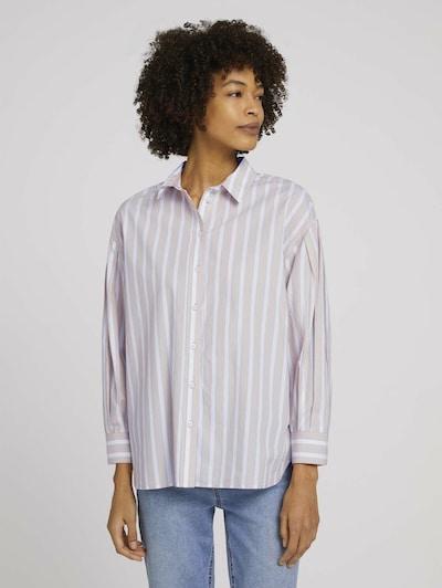 MINE TO FIVE Bluse in hellblau / braun / weiß, Modelansicht