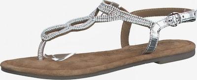 Šlepetės per pirštą iš TAMARIS , spalva - sidabrinė, Prekių apžvalga