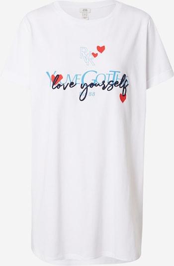 River Island Shirt 'YOUVE GOT THIS' in türkis / dunkelblau / rot / weiß, Produktansicht