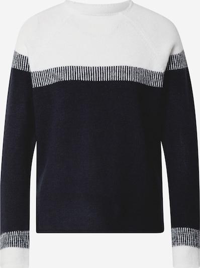 MORE & MORE Pullover in marine / weiß, Produktansicht