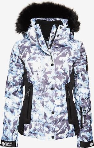 Superdry Snow Pufferjacke 'Luxe Snow' in Blau