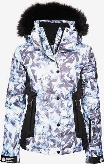 Superdry Snow Pufferjacke 'Luxe Snow' in blau / hellblau / schwarz, Produktansicht