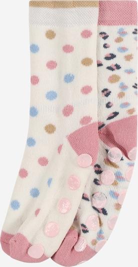 EWERS Socken en dunkelbeige / rauchblau / rosé / naturweiß, Vue avec produit