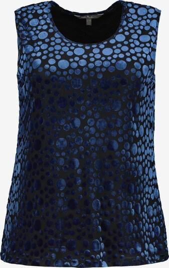 Ulla Popken Samt-Top in blau, Produktansicht