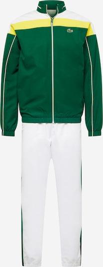 Lacoste Sport Trainingsanzug in gelb / weiß, Produktansicht