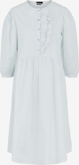 PIECES Blusekjole 'Luca' i lysegrå / hvid, Produktvisning