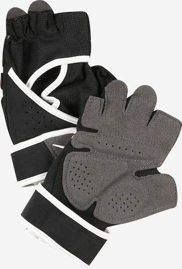 NIKE Accessoires Sporthandschuhe in grau / schwarz / weiß: Frontalansicht