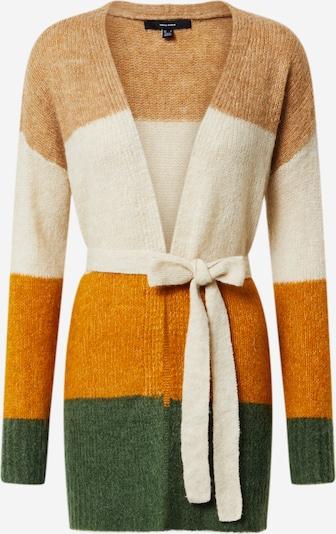 Geacă tricotată 'Isabella' VERO MODA pe crem / bej deschis / galben auriu / verde, Vizualizare produs