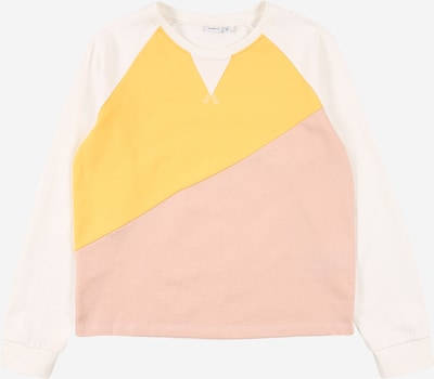 NAME IT Sweatshirt 'SOLISA' in mustard / pink / off white, Item view
