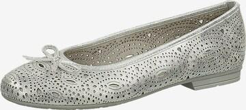 JANA Ballet Flats in Silver