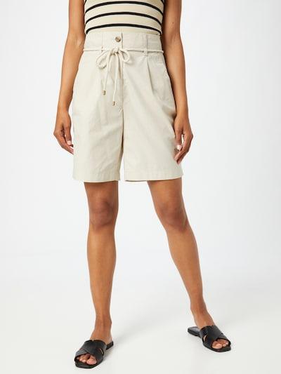 ESPRIT Kalhoty se sklady v pase - béžová, Model/ka