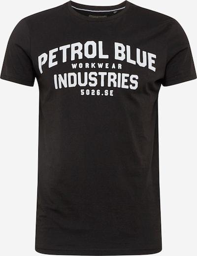 Petrol Industries T-Shirt in schwarz / weiß, Produktansicht