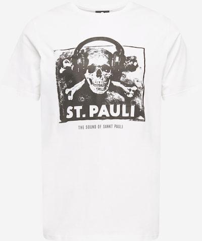 Tricou 'Sound' FC St. Pauli pe negru / alb, Vizualizare produs