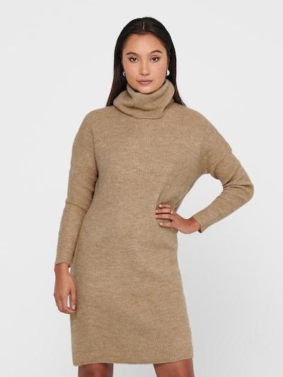 ONLY Gebreide jurk 'Jana' in de kleur Camel, Modelweergave