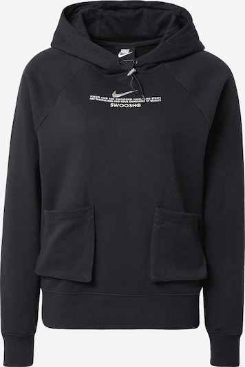 Megztinis be užsegimo iš Nike Sportswear , spalva - juoda / balta, Prekių apžvalga