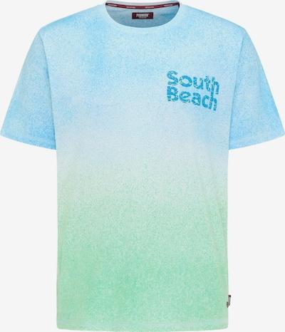 PIONEER Shirt in de kleur Lichtblauw / Lichtgroen / Wit, Productweergave