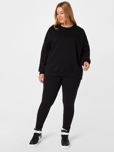 Missguided Plus Облекло за бягане в черно: Изглед отпред