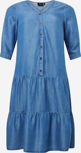 Rochie tip bluză 'CARIN' Zizzi pe albastru denim, Vizualizare produs