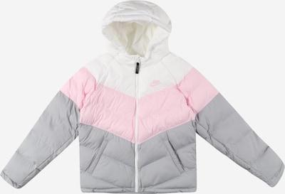 Nike Sportswear Veste d'hiver en gris fumé / rose / blanc, Vue avec produit