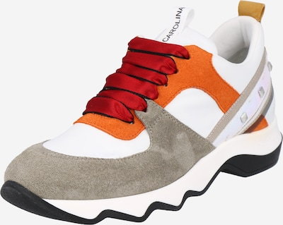 Donna Carolina Sneaker in dunkelbeige / orange / weiß, Produktansicht