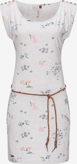 Ragwear Kleid 'Chego' in gelb / dunkelgrün / lila / rosa / weißmeliert, Produktansicht