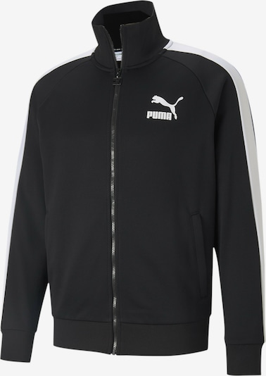 PUMA Sportiska tipa jaka 'Iconic T7' melns / balts, Preces skats