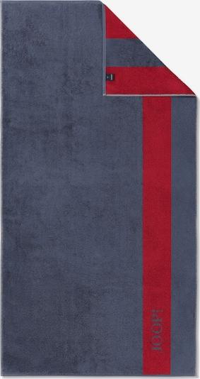 JOOP! Badlaken in de kleur Donkergrijs / Karmijnrood, Productweergave