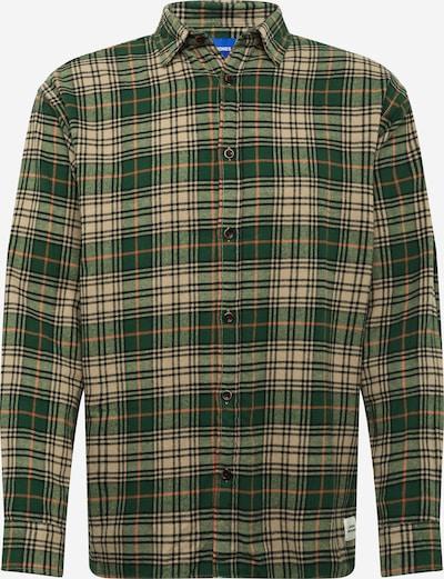 JACK & JONES Hemd 'MINISTRY' in hellbeige / grasgrün / grünmeliert / hellorange / schwarz, Produktansicht