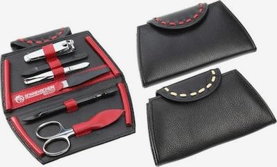 Hans Kniebes Set in rot / schwarz, Produktansicht