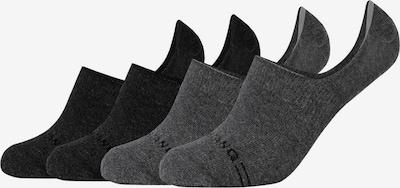 MUSTANG Füßlinge 'Scarlett' im 4er-Pack in grau / schwarz, Produktansicht