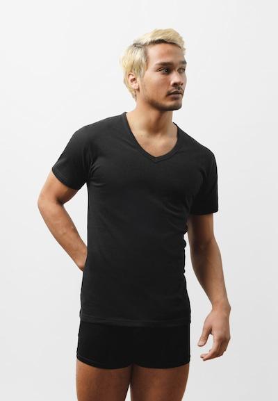 SNOCKS Unterhemd in schwarz, Modelansicht