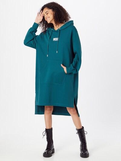 DIESEL Kleid 'Ilse' in petrol / weiß, Modelansicht