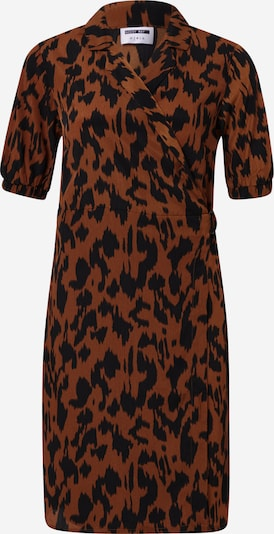 Noisy may Kleid in dunkelorange / schwarz, Produktansicht