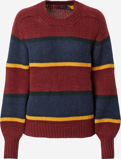 Polo Ralph Lauren Pullover in dunkelblau / gelb / rot, Produktansicht