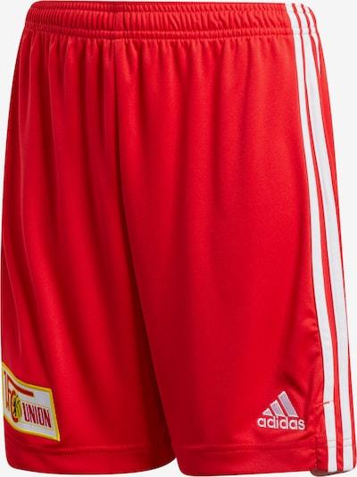 ADIDAS PERFORMANCE Shorts '1. FC Union Berlin' in gelb / hellrot / weiß, Produktansicht