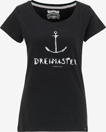 Tricou de la DreiMaster Vintage pe negru
