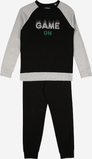 SCHIESSER Schlafanzug in graumeliert / smaragd / schwarz, Produktansicht