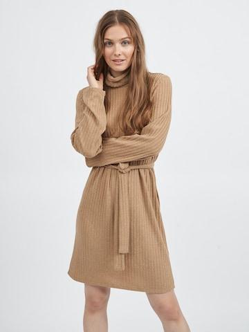VILA Gebreide jurk 'Elita' in Beige