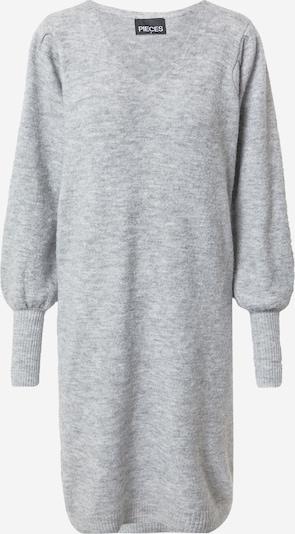 PIECES Vestido de punto en gris moteado, Vista del producto