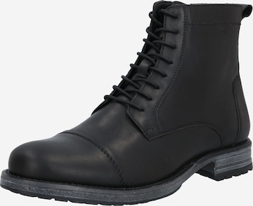 ABOUT YOU Lace-up boot 'Carl' in Black