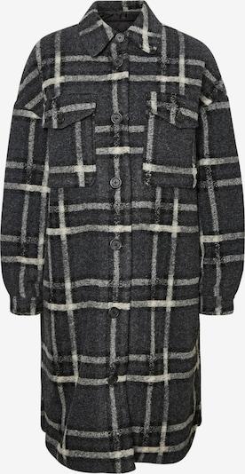 VERO MODA Mantel 'Chrissiequilt' in dunkelgrau / schwarz / weiß, Produktansicht