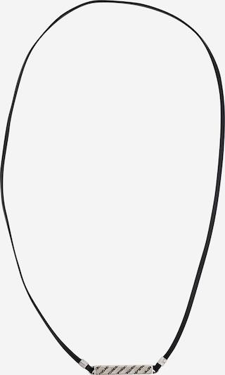DIESEL Řetízek - černá / stříbrná, Produkt